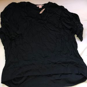 NWT Victoria's secret pj top black m